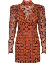 ida dress kort klänning orange rotate birger christensen