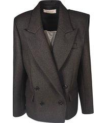 nina ricci double breasted two-button short blazer