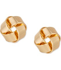 charter club gold-tone ribbon stud earrings, created for macy's