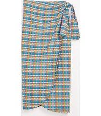 loft lou & grey paradise plaid wrap skirt