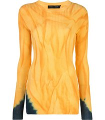 proenza schouler dipped tie-dye jumper - yellow