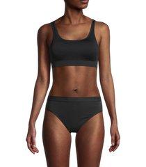 yummie women's padded sports bra - black - size s/m