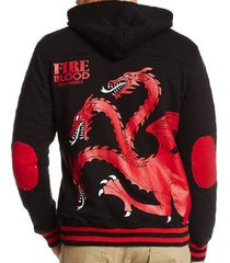 game of thrones fire & blood three headed dragon zip hoodie sweatshirt s-xxl