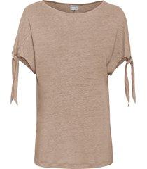 maglia boxy in lino (marrone) - bodyflirt