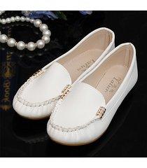 slip on piatto shoes in puro metallo colorato confortevole