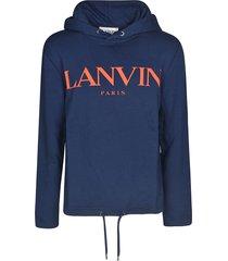 lanvin chest logo hoodie