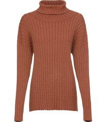 maglione oversize a coste (marrone) - bodyflirt