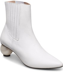 roxanne black boot with pearl heel shoes boots ankle boots ankle boot - heel vit mother of pearl