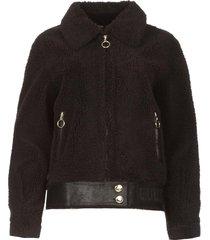 korte teddy jas senna  zwart