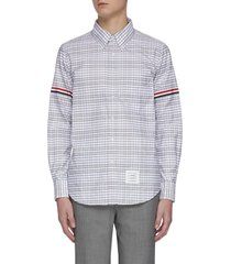 four-bar stripe armband check shirt