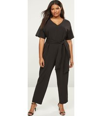 lane bryant women's lena studded-sleeve jumpsuit 22 black