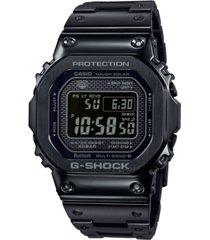 g-shock men's solar digital black stainless steel bracelet watch 43.2mm