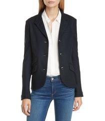 women's rag & bone slade wool blazer, size 8 - black