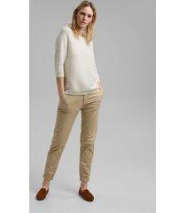 sweater mujer texturado liso con lino blanco esprit