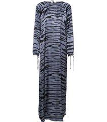 addi maxi dress galajurk blauw rabens sal r