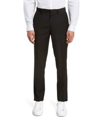 men's topman black skinny fit dress pants, size 38 x 34 - black