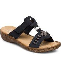 62891-14 shoes summer shoes flat sandals blå rieker