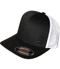 gorra fist con pin negra con malla blanca atrás gfistcap35