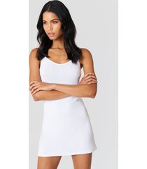 na-kd basic na-kd basic dress - white