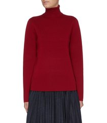 'matterhorn' contrast sleeve turtleneck sweater