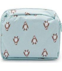 maleta pingüinos color azul, talla uni