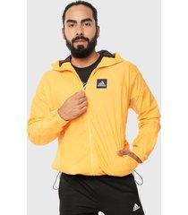 chaqueta amarillo adidas performance w.n.d. primeblue