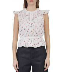 the ivory cherry victorian top