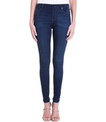 women's liverpool abby mid rise soft stretch skinny jeans, size 16 - blue