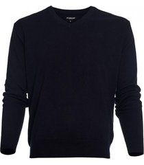 sweater cuello v algodón azul marino mcgregor