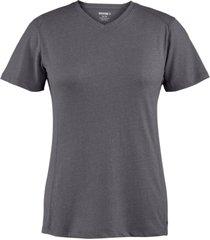 wolverine women's edge short sleeve tee black heather, size xl