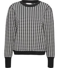 hailey knit pullover stickad tröja grå minus