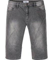 bermuda lunghi in jeans elasticizzato regular fit (grigio) - john baner jeanswear