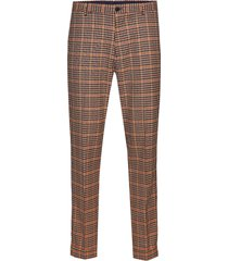 seasonal fit- chic gentlemans chino in yarn-dyed pattern kostymbyxor formella byxor brun scotch & soda