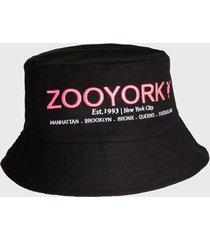 gorro reversible bucket washed multicolor zoo york