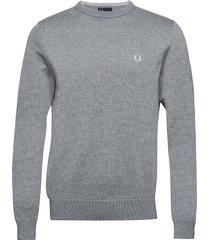classic cott. c/n sweat-shirt tröja grå fred perry