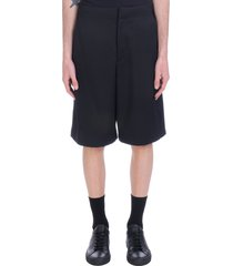 oamc vapor shorts in black wool