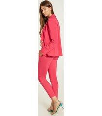 motivi pantaloni skinny in tessuto tecnico donna rosa