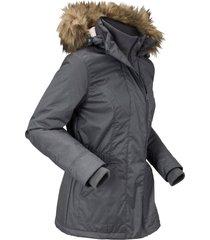 giacca tecnica outdoor con cappuccio rimovibile (grigio) - bpc bonprix collection