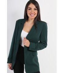 blazer forrado over size verde night concept