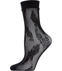 natori plume net crew socks, women's