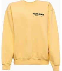 sporty & rich sporty and rich wellness club sweatshirt cr176bc