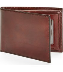 bosca id passcase wallet in brown at nordstrom