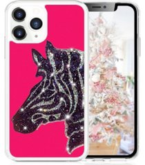 milanblocks iphone 11 pro zebra glitter phone case