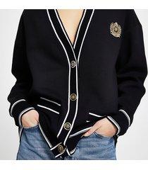 river island womens black ri badge stripe cardigan