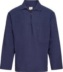 "breton smock ""guilvinec"" overhemd casual blauw armor lux"