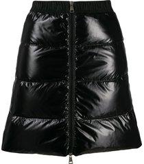 moncler padded mini skirt - black