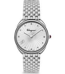 cuir stainless steel bracelet watch
