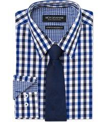 nick graham men's modern-fit shirt and tie