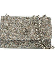jimmy choo multicolor glitter clutch bag