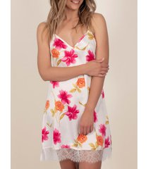 pyjama's / nachthemden admas thaise bloemen babydoll